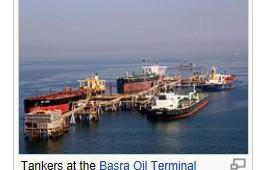 Olieskepe-in-Basra-Irak