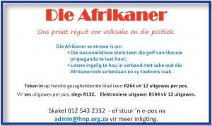 Die Afrikaner - Vryburger advertensie
